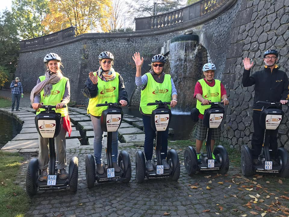 bonn Shido goes on Rheintour on Segway