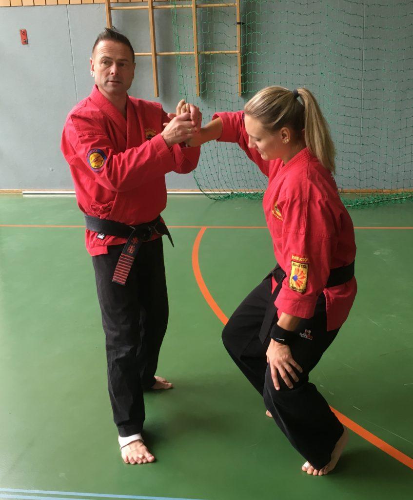 Norbert Domrös mit seiner Meisterschülerin Janina